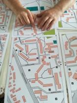 zbliżenie mapy dotykowej