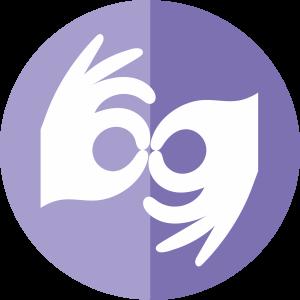 symbol dłoni w geście języka migowego