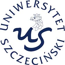 """logo uniwersytetu szczecińskiego okra ułożony z napisu iuniwersytet szczeciński w środku okręgu litera """"U"""" i """"S"""" nad nimi głowa orła"""