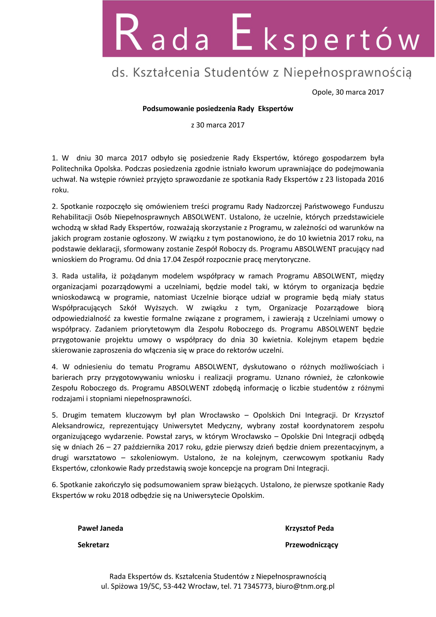 Rada Ekspertów 30.03 - Podsumowanie-1