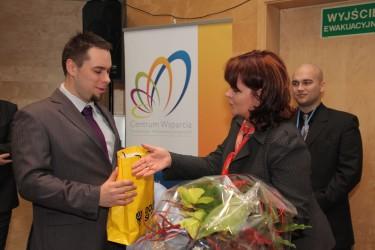Krzysztof Peda i Minister Barbara Kudrycka