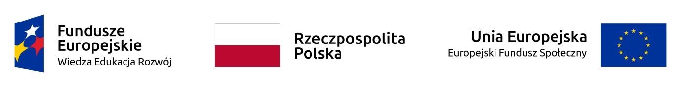 Flaga Polski Flaga Unii Europejskiej Logo Funduszu Społecznego
